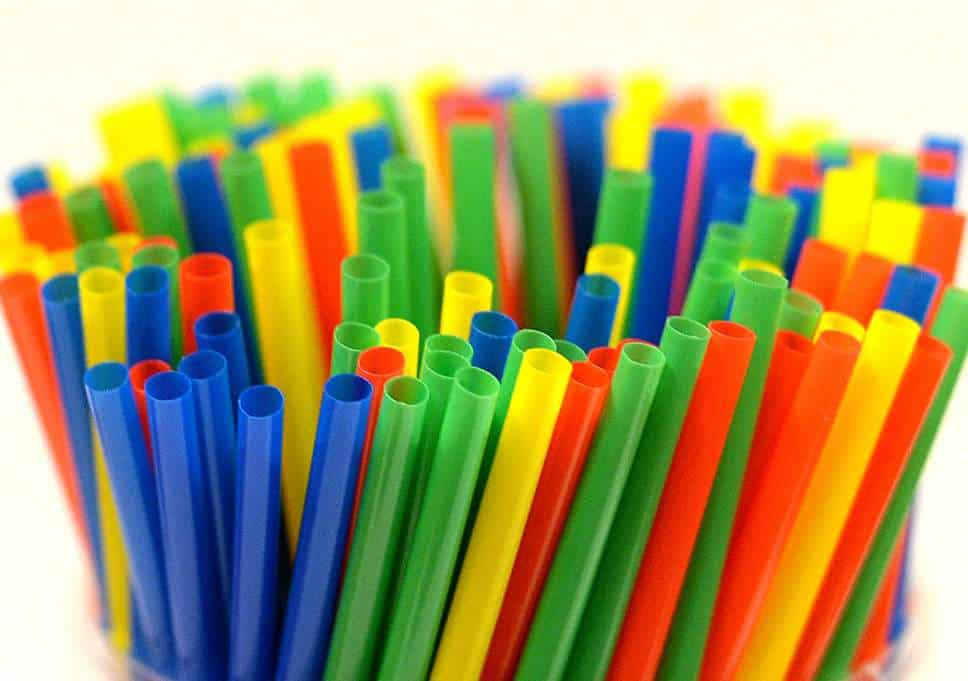 colorful plastic straws