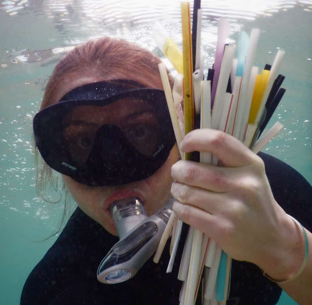 plastic straws found in ocean