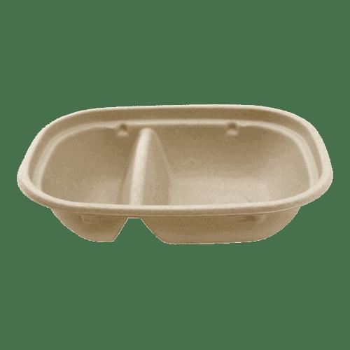 2 compartment fiber bowl