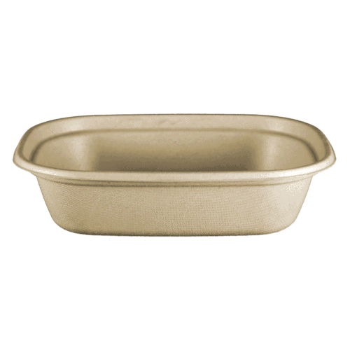 fiber compostable square bowl