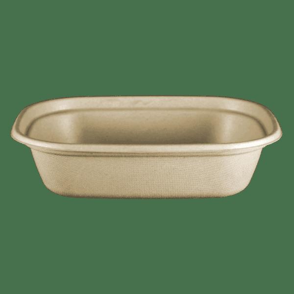 fiber compostable square bowl