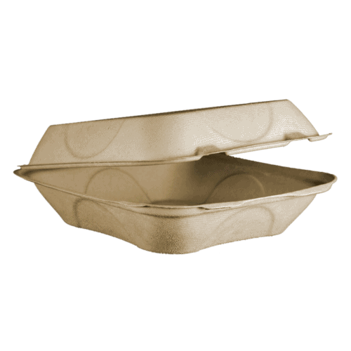 clamshell fiber container