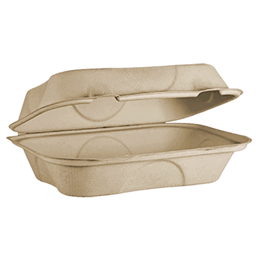 clamshell fiber compostable container
