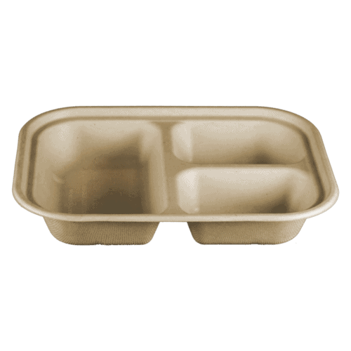 3 compartment fiber container
