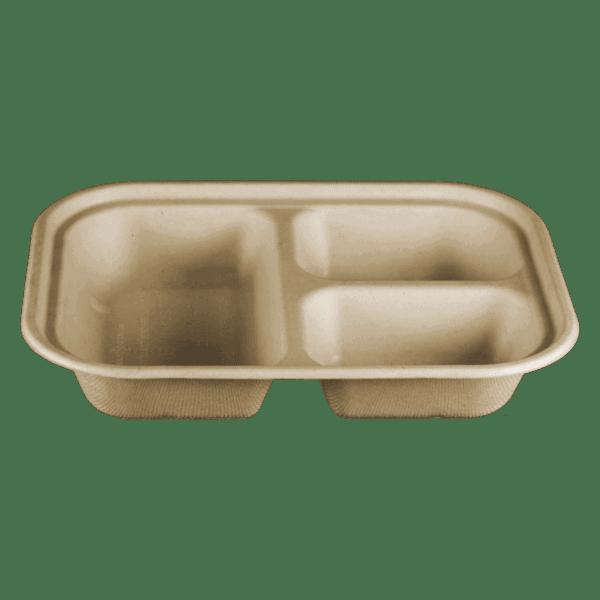 3 compartment fiber container