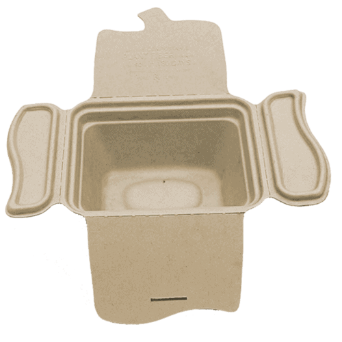 4 fold fiber food container