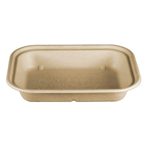 compostable fiber food container