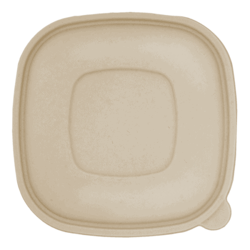 flat fiber lid for square bowls