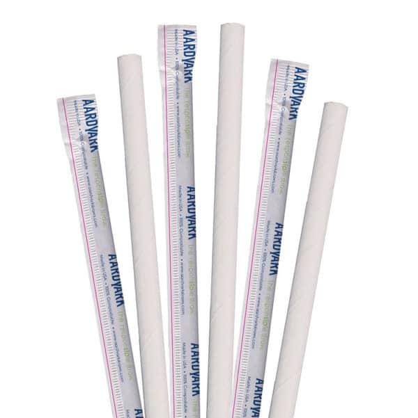 aardvark white paper straws