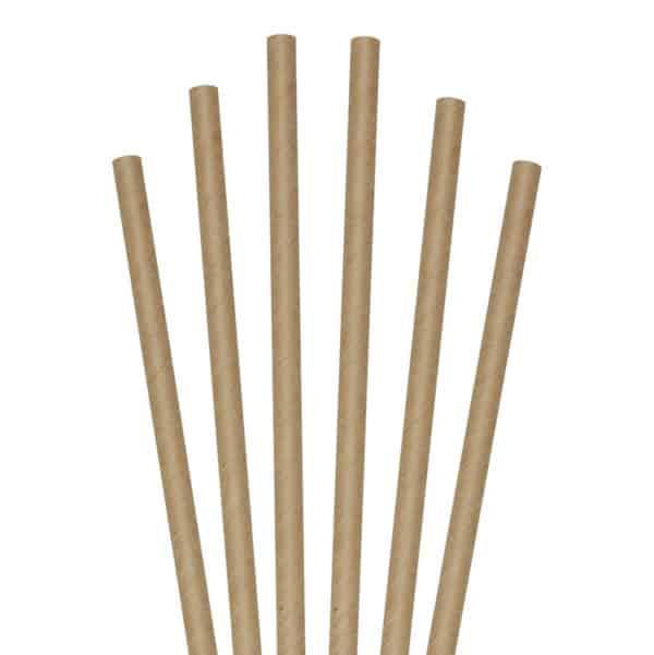 "Kraft cocktail 5.75"" unwrapped paper straws"