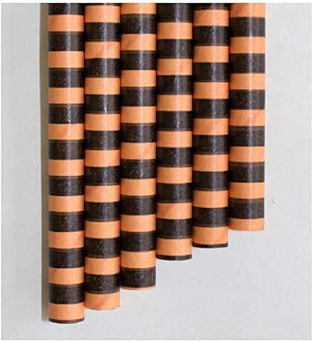 "orange and black striped boba tea straw 8.5"""