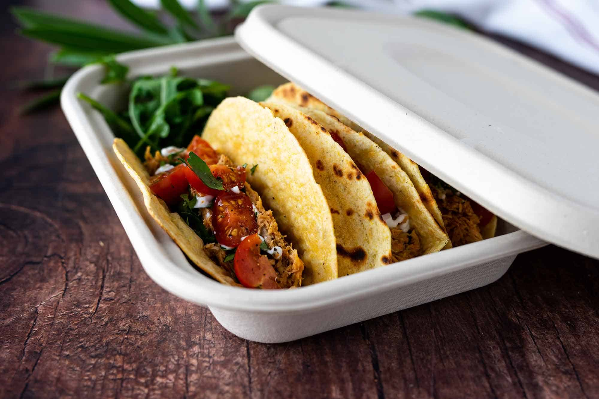 Compostable takeout containers from ecopliant