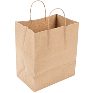 Compostable paper carryout bags