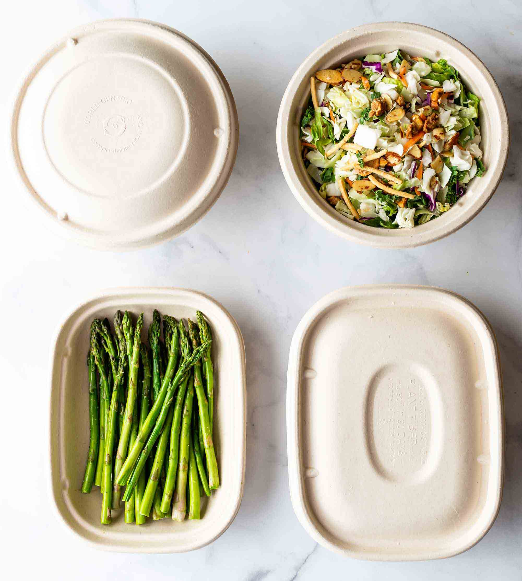 biodegradable takeout containers and lids