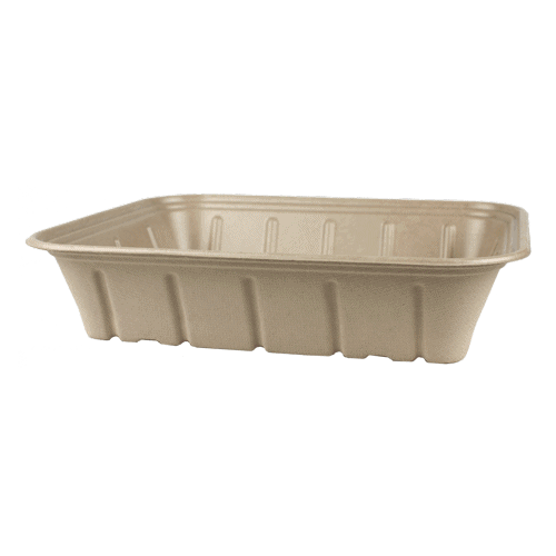 half size fiber catering pan with PLA lining 120 oz