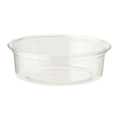 clear, flat portion cup 2 oz