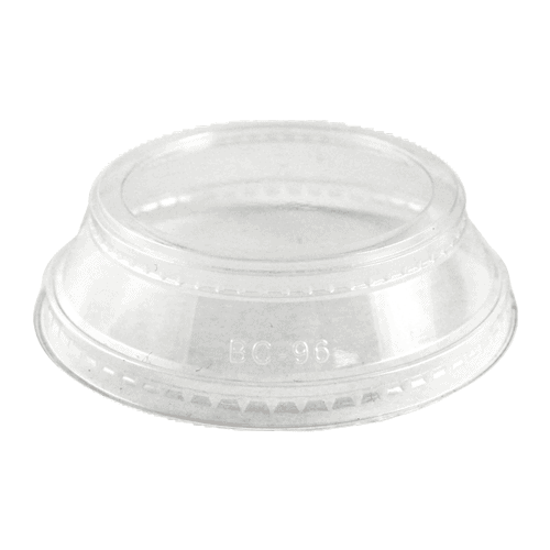 LID PLA clear parfait lid, no straw hole for 24 oz cold cups
