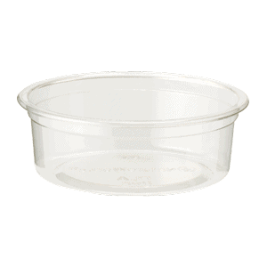 flat, clear 2 oz insert for 9 oz cold cup