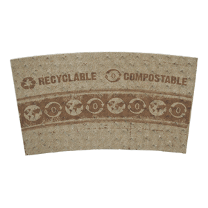 compostable paper cup sleeve