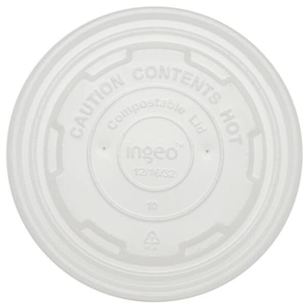 PLA LID 12-32 oz white
