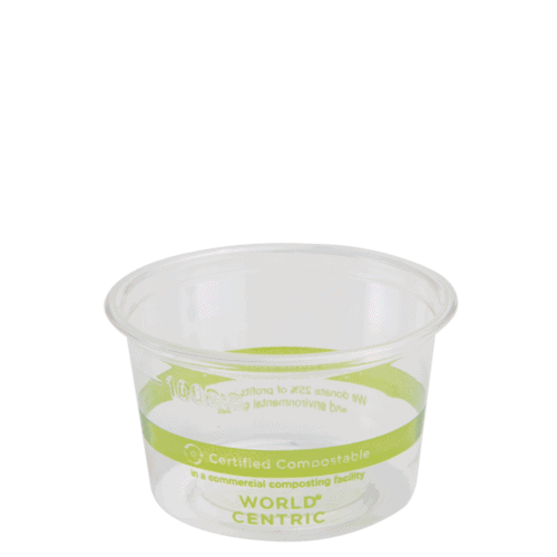 clear 4 oz portion cup