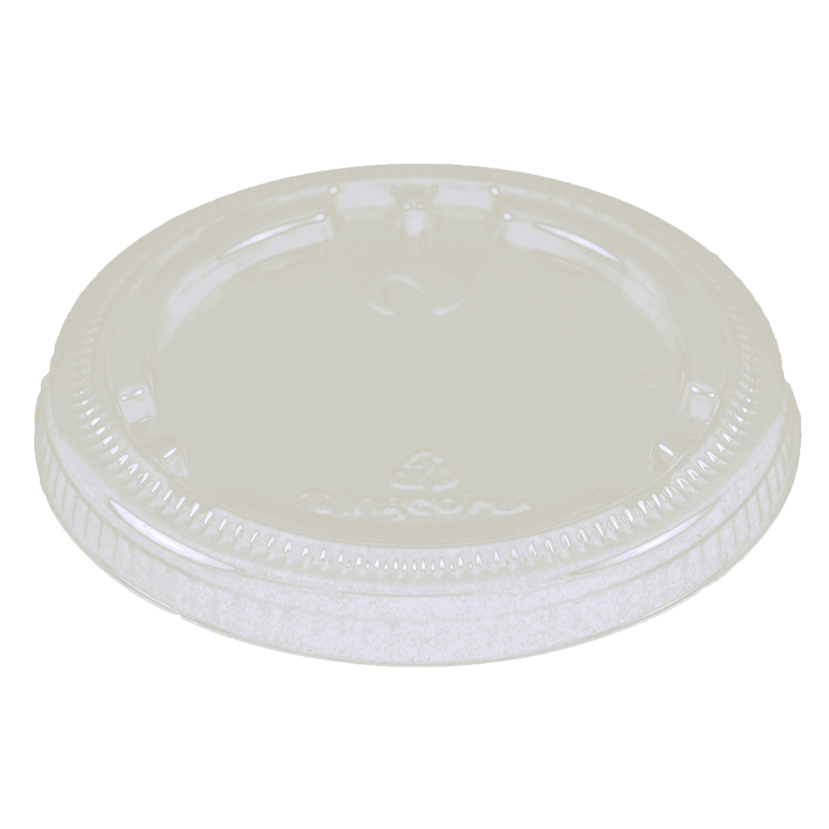 PLA LID 4 to 9 oz cold cups 2 oz flat portion cups, no straw hole
