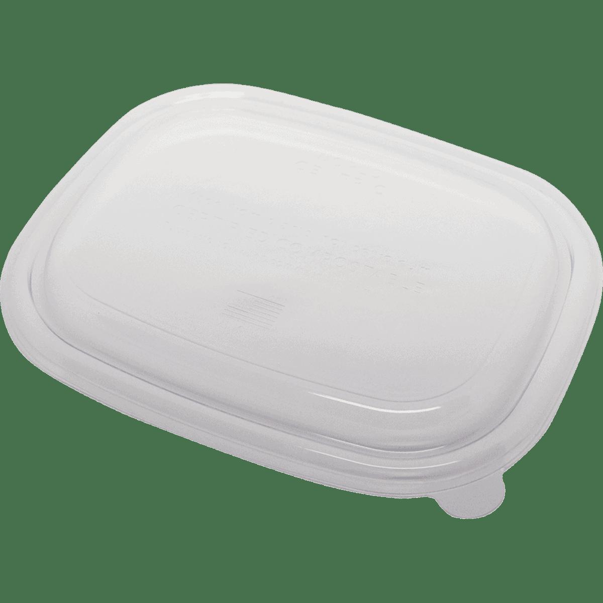 LID PLA clear lid for fiber boxes 20-48 oz