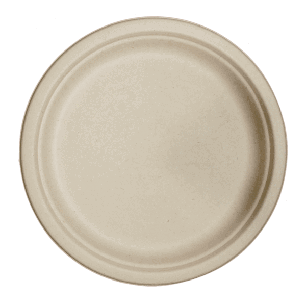 "10"" compostable fiber plate"