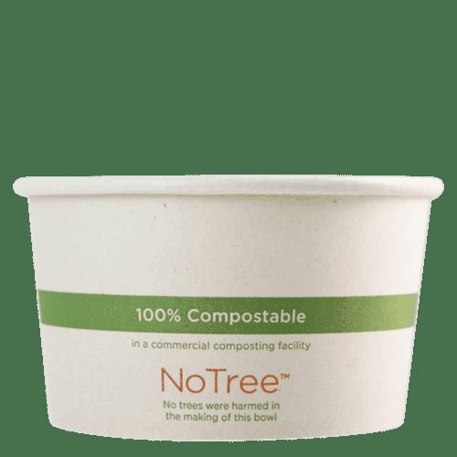 12 oz NoTree compostable paper bowl