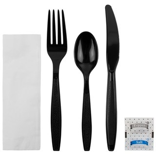 recycled content cutlery kit fork knife spoon wrapped