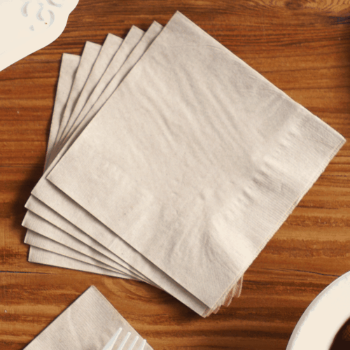 brown kraft paper napkin