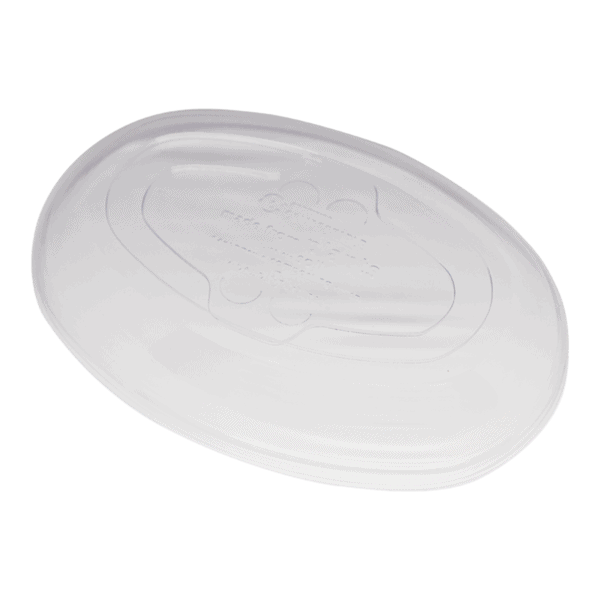 PLA lid for fiber burrito bowls