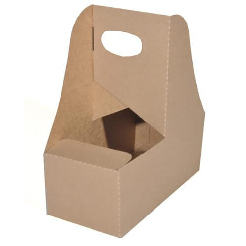 2 cup paper drink carrier