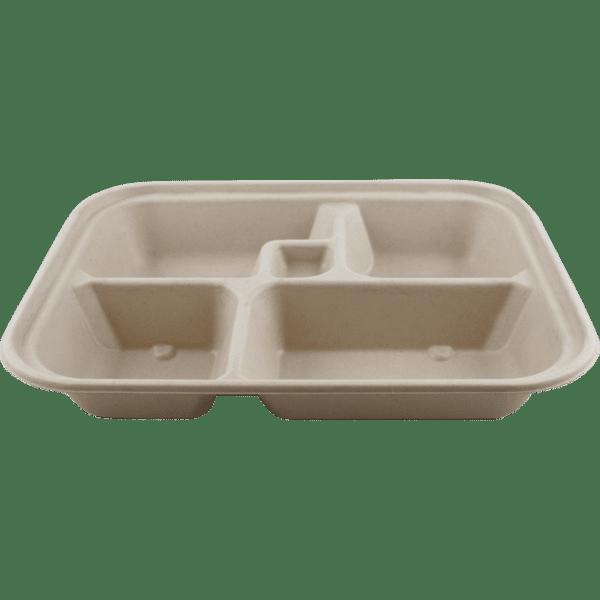 5 compartment bento box compostable