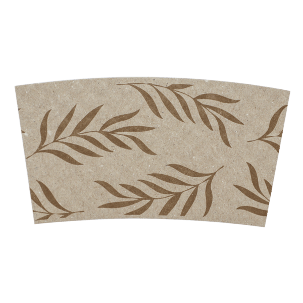 8oz coffee sleeve floral print