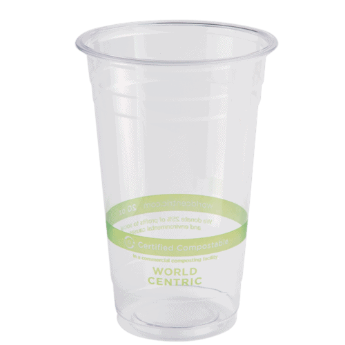 20oz clear cold cup