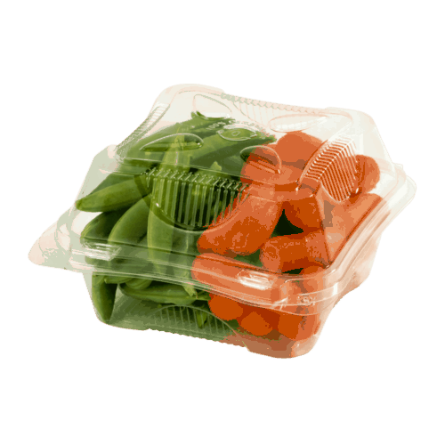 6x6x3 clear hinged clamshell compostable
