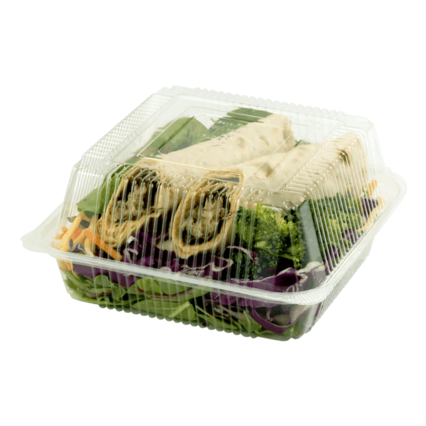 7x7x3 clear clamshell compostable