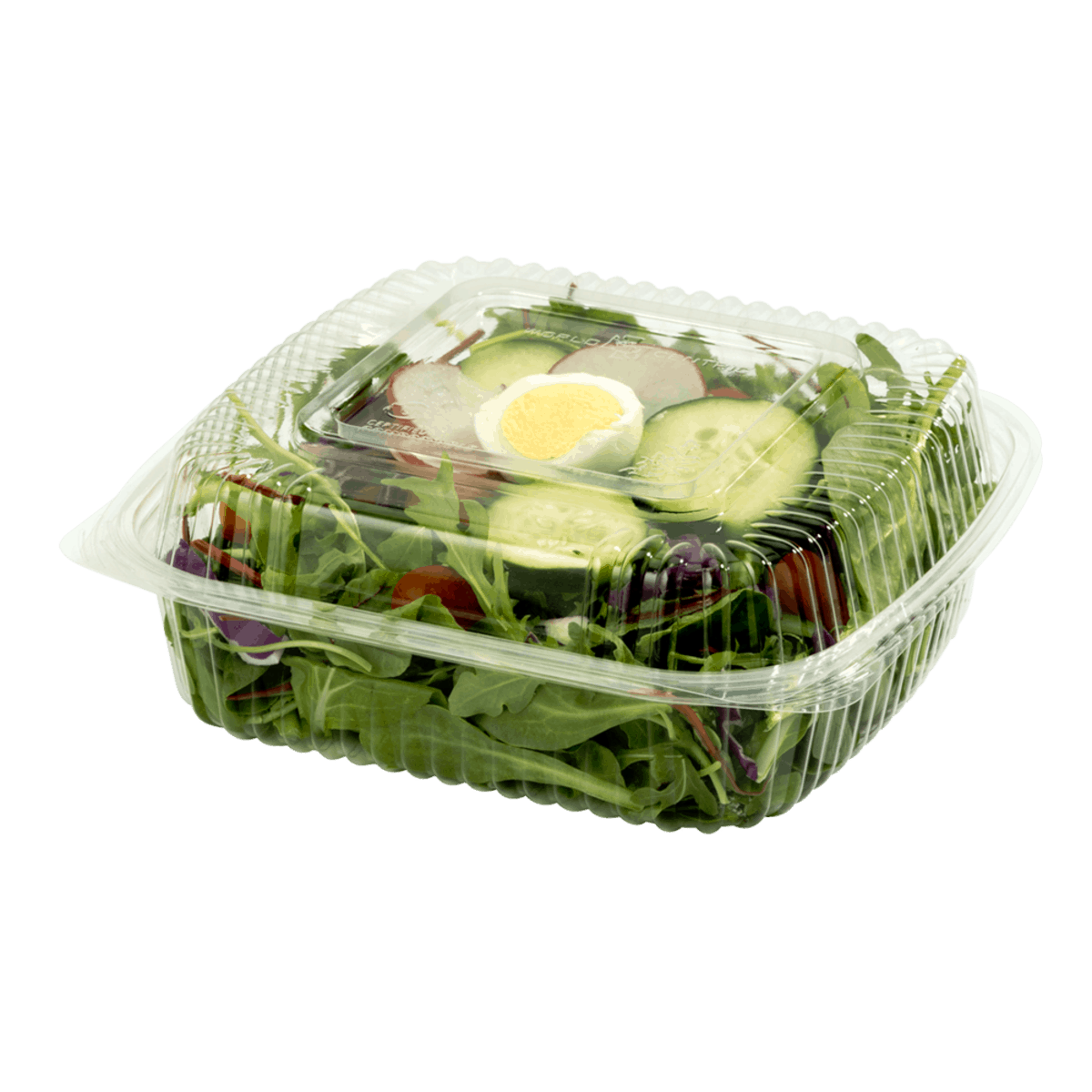 8x8x3 clear clamshell compostable