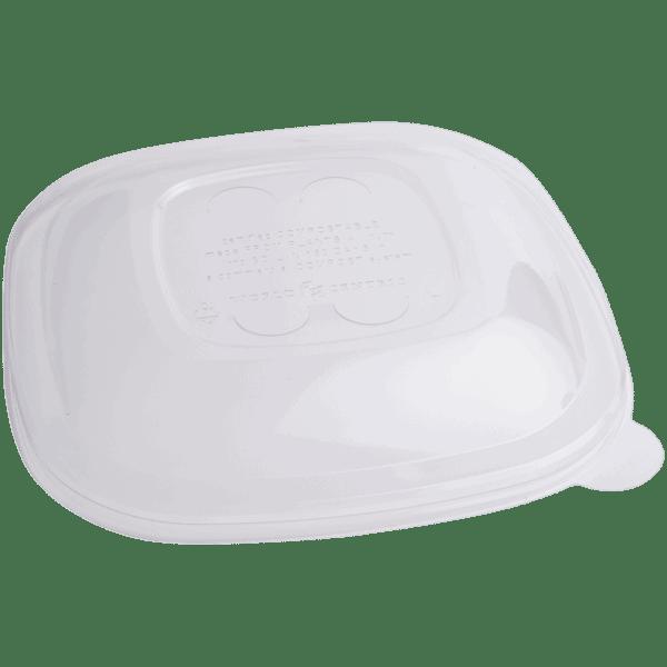 square PLA lid for fiber bowls