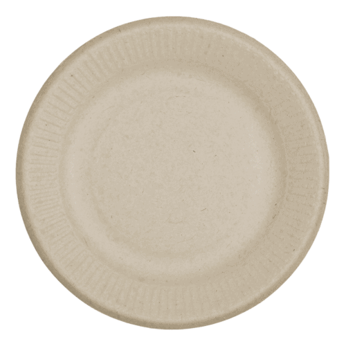 6 inch round fiber plate for food