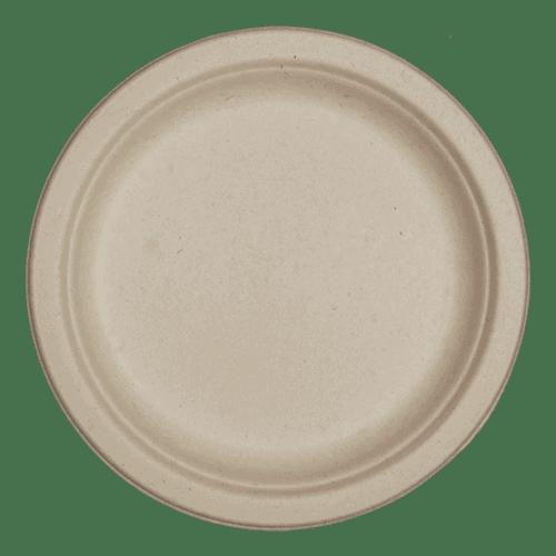 7 inch natural fiber plate for food