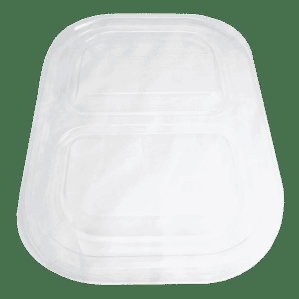 PLA lid for 14oz fiber container