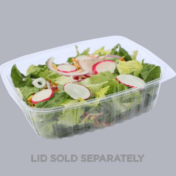 48oz rectangle deli container compostable