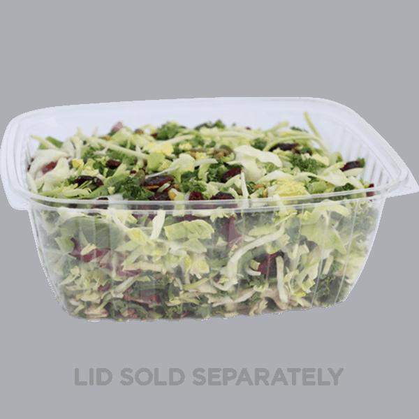 64oz rectangle deli container compostable