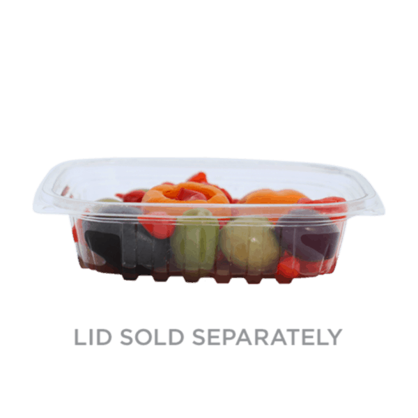 8 ounce rectangle deli container compostable
