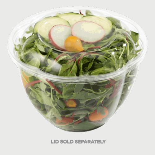 48oz salad bowl clear compostable
