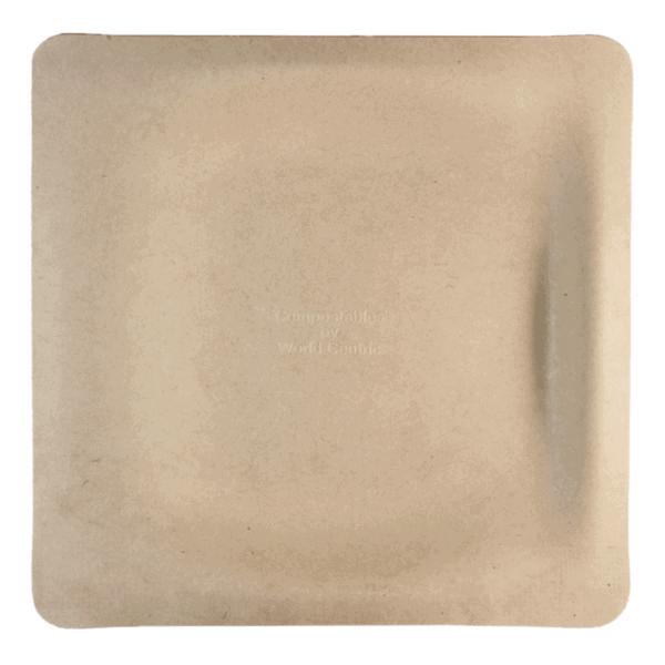 10 inch square fiber plate for food
