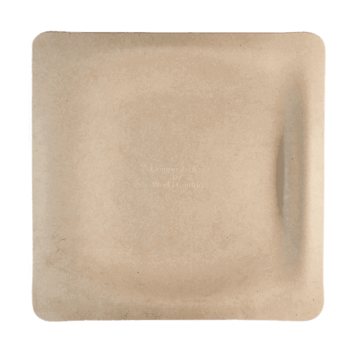 9 inch square fiber plate for food