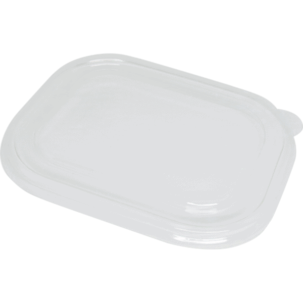 clear flat compostable lid